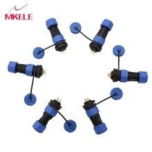 SP17 2/3/4/5/7/9 Pin Protective Plug IP68 stekker en vrouwelijke Docking Socket Stofdicht Circulaire Multipole
