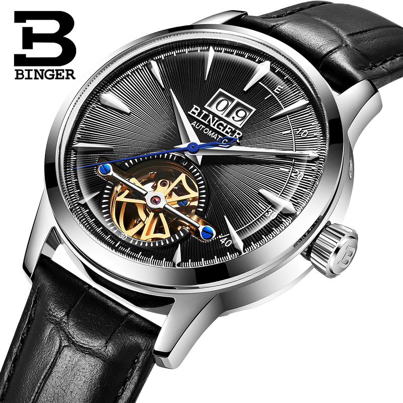 Switzerland BINGER Mens Watches Luxury Brand Automatic Mechanical Men Watch Sapphire Male Japan Movement reloj hombre B-7Switzerland BINGER Mens Watches Luxury Brand Automatic Mechanical Men Watch Sapphire Male Japan Movement reloj hombre B-7