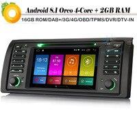 7 4 ядра Android 8,1 Авто DAB + WI FI 4G BT DVD OBD СБ Navi автомобиля gps навигации плеер для BMW M5 X5 5 серии E53 E39