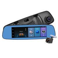 1G+16G 7.84in FHD 1080P Android Car Rearview Mirror DVR Camera 4G WiFi BT Dash Cam Driving Video Recorder GPS Navigator G sensor