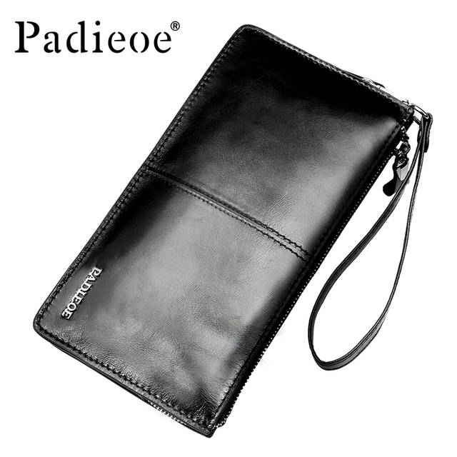 Padieoe Brand Men Wallets Money Pocket Business Mens  Card Holder Coin Purses Genuine Leather Wallet Men Clutch Male Wallet