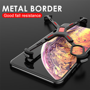 Image 3 - R JUST Alüminyum Metal Çıplak Çerçeve iPhone için kılıf XR XS MAX Darbeye Dayanıklı X Şekli Tampon Kapak iPhone XS Için Max X XR koruma Kılıfı