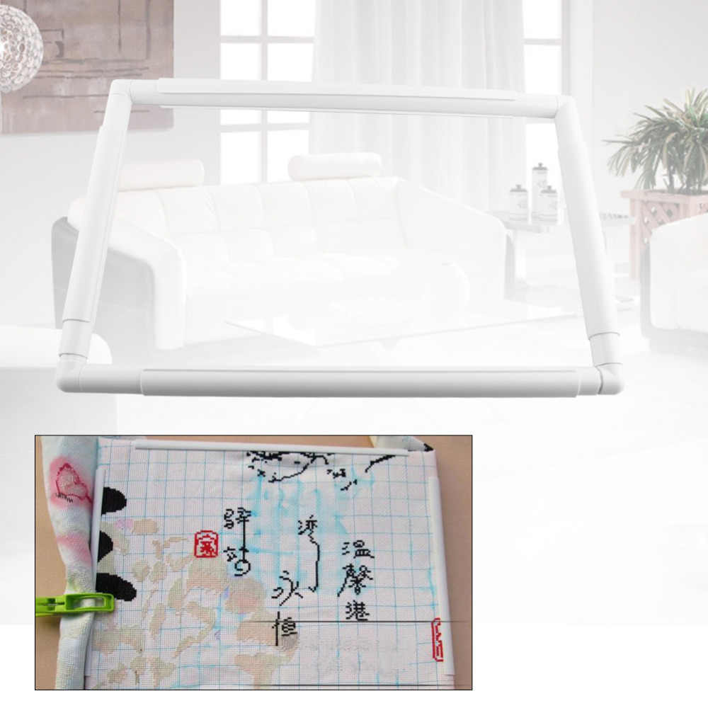 Embroidery Frame Plastic Quilting Frame Sewing Tools Handhold Square Rectangle Shape Hoop Cross Stitch Craft DIY Tool