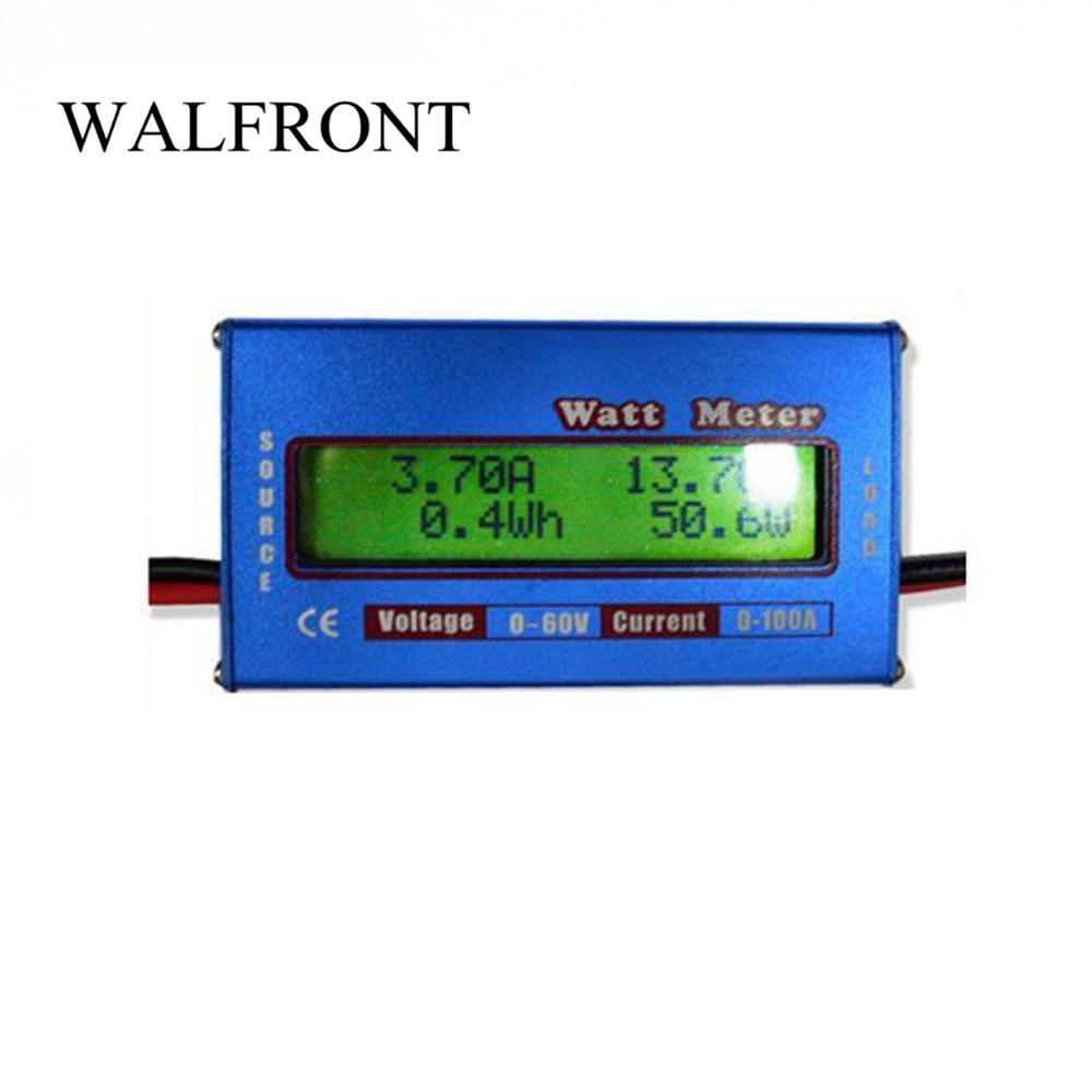 1 Pcs Digital Wattmeter High-accuracy Power Meter DC 60V 100A RC Watt Meter Checker Balance Voltage Battery Power Analyzer