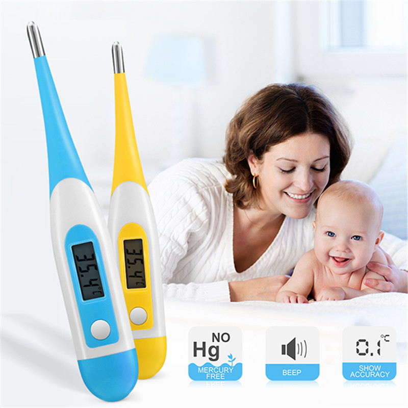 Baby Child Adult Body Digital LCD Heating Baby Thermometer Tools Kids Baby Child Adult Body Temperature Measurement