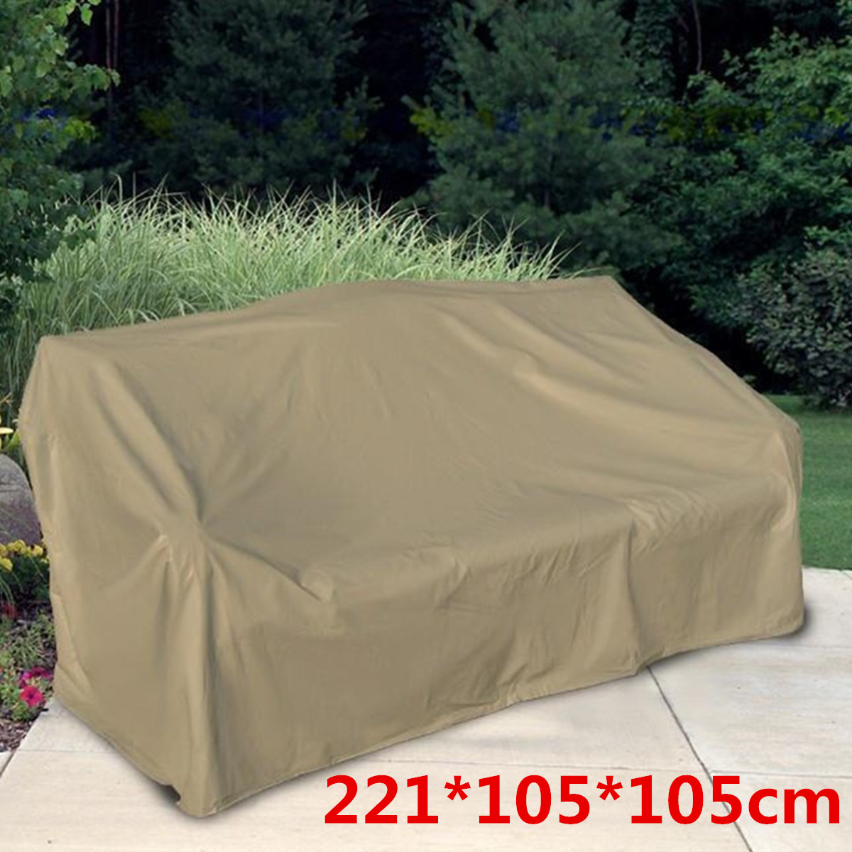 Waterproof Outdoor Patio Garden Furniture Covers Rain Snow Chair Covers For Sofa Table Chair Dust Proof Cover Protection Beige