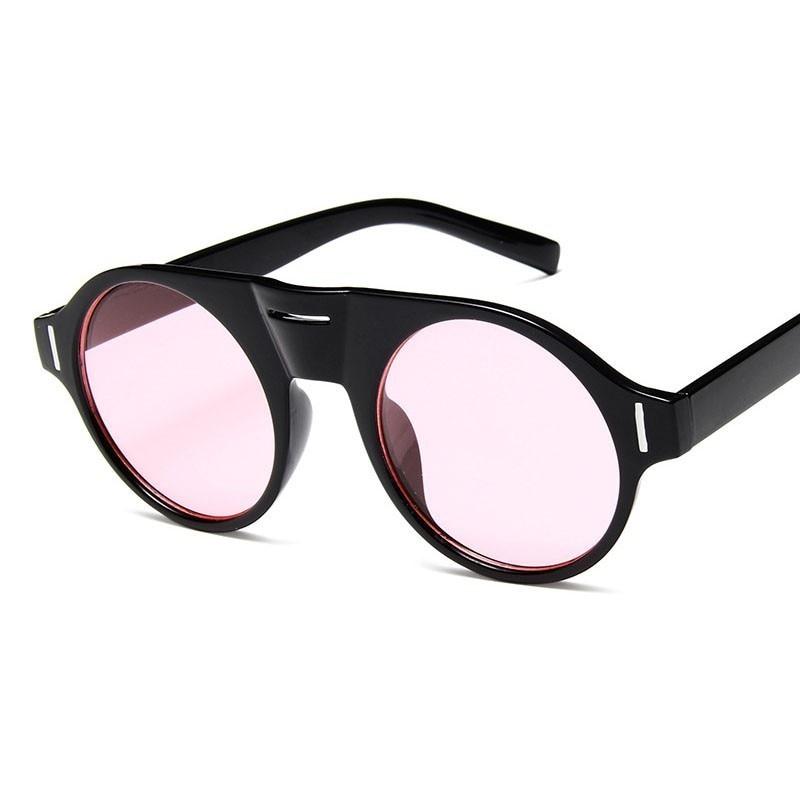 Round Sunglasses For Men Women High Quality Flat Top Fashion Circle Lens Sun Glasses Retro Eyeglasses Lightweight Eyewear in Hiking Eyewears from Sports Entertainment
