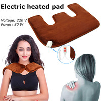 Electric Neck Massager Electric Heated Shoulder Pad Hot Compress Moxibustion Shawls Shoulder Heating Pad With Vibrating Therapy