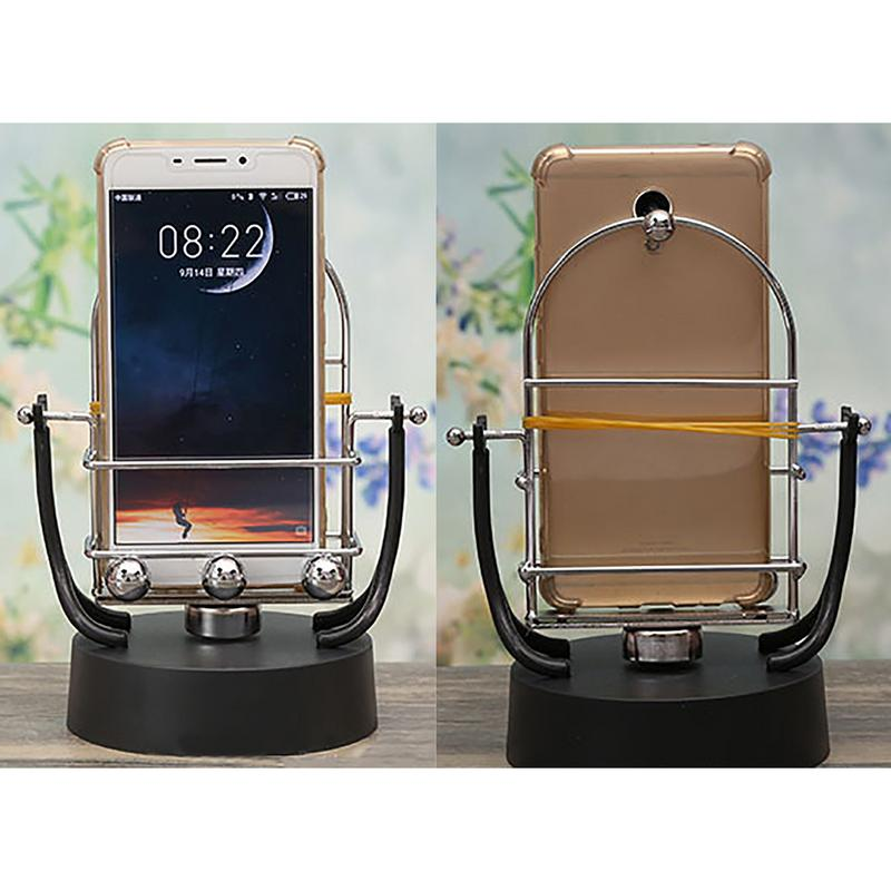 Hearty Novel Revolving Swing Balance Ball Phone Holder Amount Perpetual Motion Physics Intelligent Automatic Pedometer Phone Holder Mobile Phone Holders & Stands