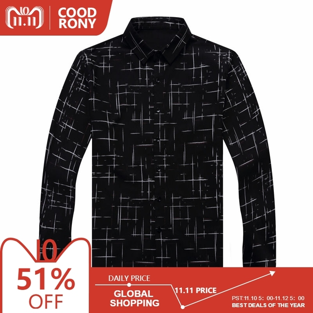 76c0aeec65f COODRONY Men Shirt Mens Business Casual Shirts Men Brand Clothes 2018 New  Arrival Cotton Plaid Long Sleeve Camisa Masculina 8725