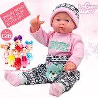 Reborn Baby Soft Reborn Baby Doll Simulation Doll Reborn Doll Kits Fashion Baby Doll Children Gift Reborn Babies Toy