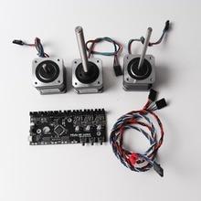 Prusa i3 MK3 Çok Malzemeler 2.0 kurulu, motorlar kiti, güç kablosu, sinyal kablosu