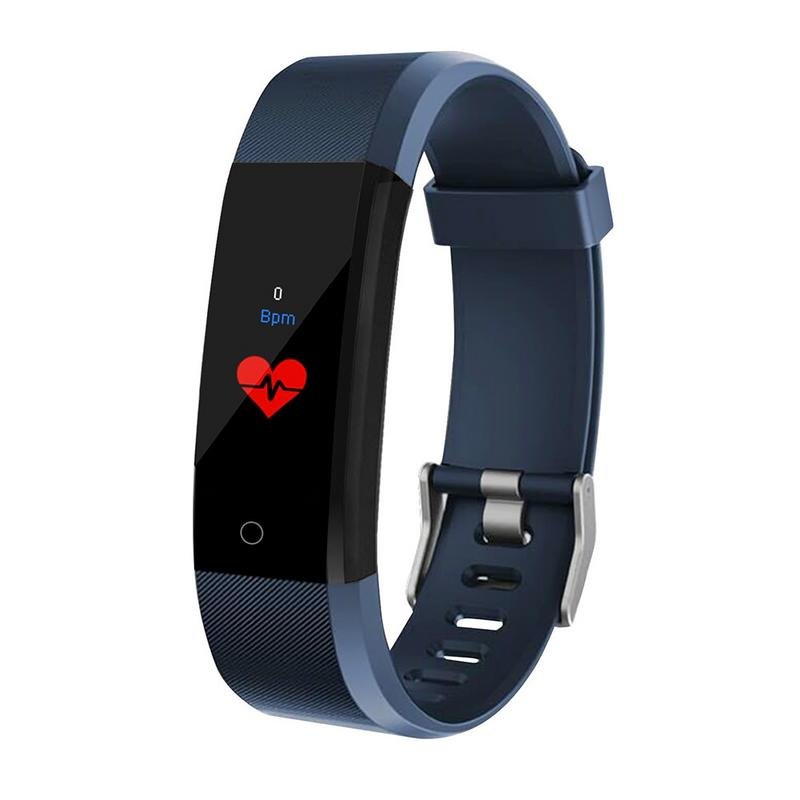 New 0.96 Inch Color Screen Smart Bracelet Sport Smart Watch Blood Pressure Exercise Dynamic Heart Rate Monitoring Step Count