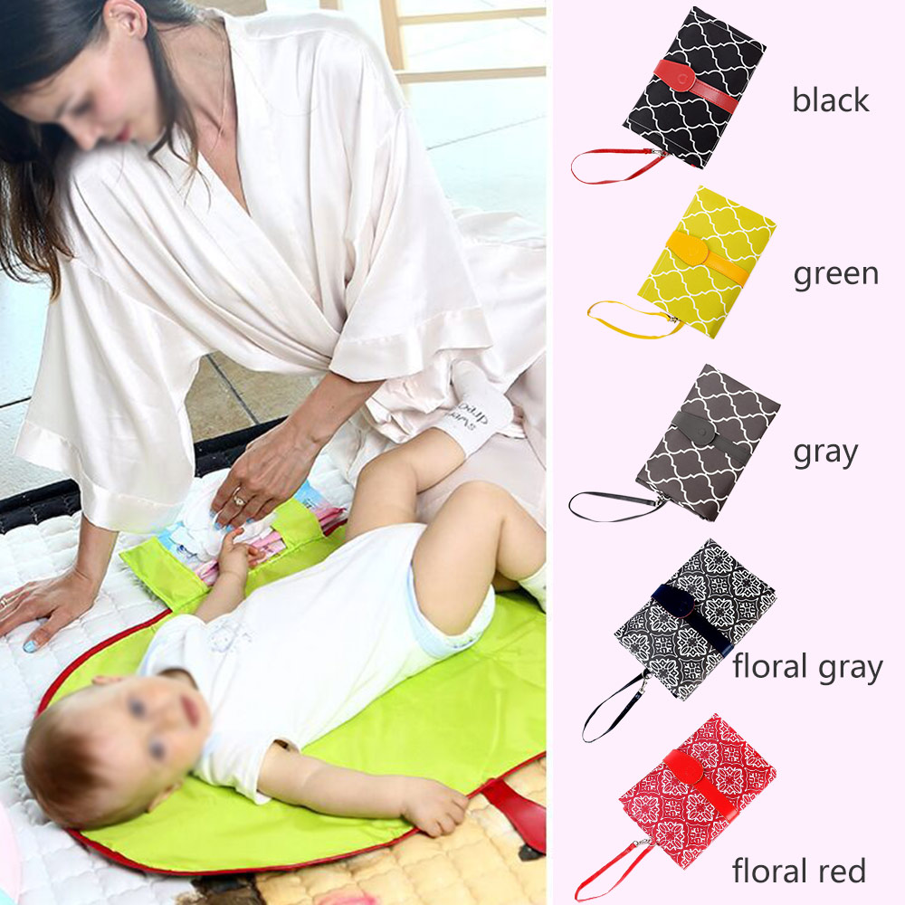 Portable Waterproof Diaper Baby Changing Mat Sheet Foldable Washable Compact Travel Nappy Changing Mat For Baby Care Products