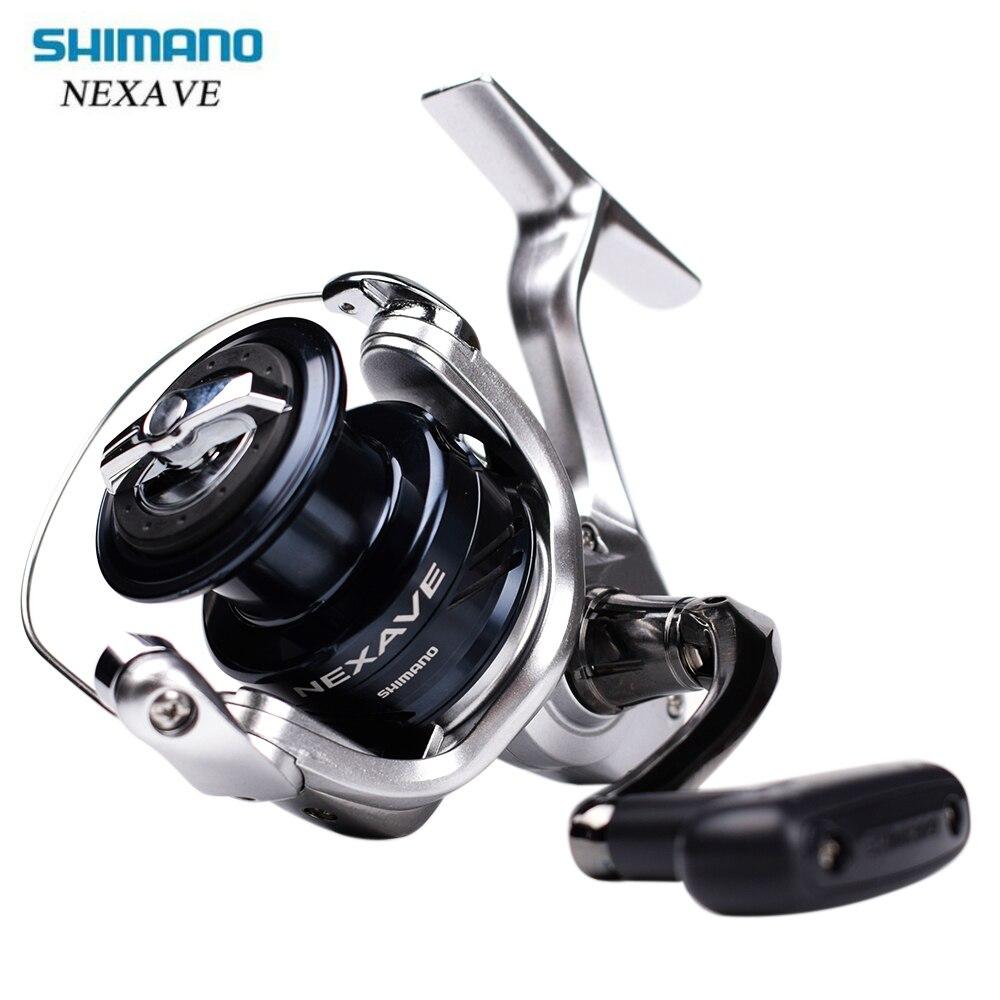 D'origine SHIMANO NEXAVE 1000 2500 C3000 4000HG C5000HG Carp Spinning Moulinet De Pêche Basse Surf Eau Salée Pêche Spinning Reel Bobine