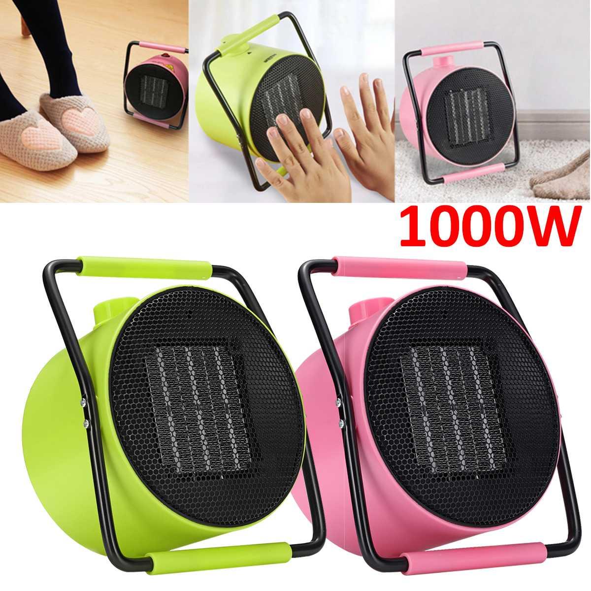 1000W Electric Heater Fan Portable Hand Heater Winter Mini ...