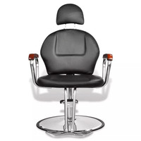 Professional Black Imitation Leather Beauty Salon Chair With Headrest 110122
