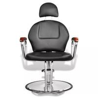 Professional Black Imitation Leather Beauty Salon Chair With Headrest 110122