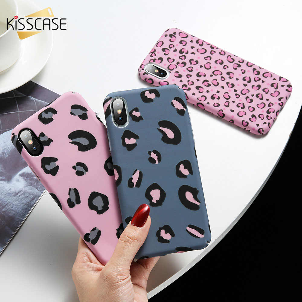KISSCASE PC leopard luminous embossed water stickers Case For Xiaomi mi 9 mi 8 lite Girly Case For Xiaomi mi play note 7 Coques