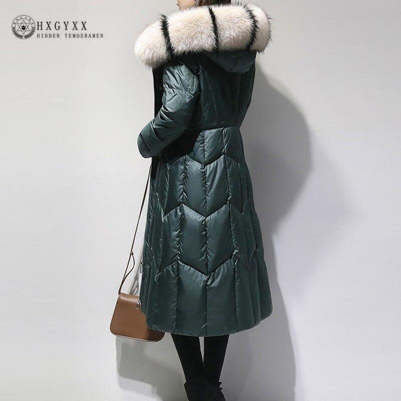 5XL Plus Size Winter Jacket Women Long Coat 2019 Fur Collar Warm Thick Slim Hooded Cotton Military   Parka   Female Outwear OKD713