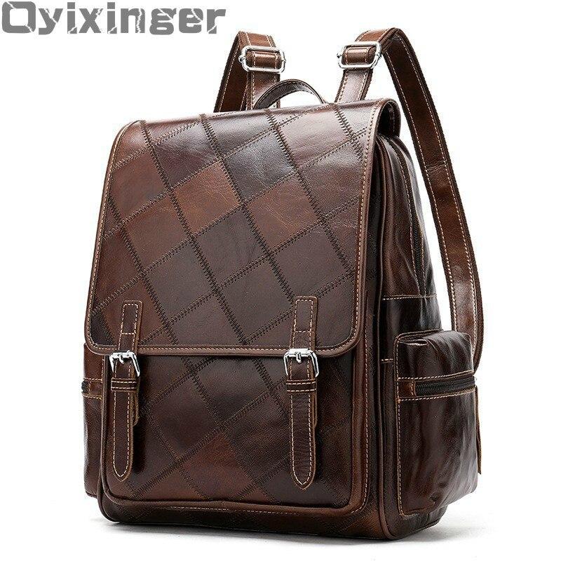 Sac à dos en cuir véritable pour femmes sac à dos pour filles sac à dos de voyage pour femmes sac à dos à carreaux sac à dos en cuir pour Mini IPAD