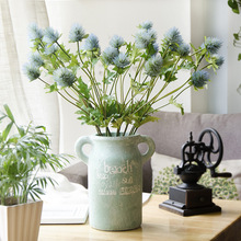 artificial 3 branches eryngo Simulation flower home decoration Flowers Wedding decor fake plants christmas