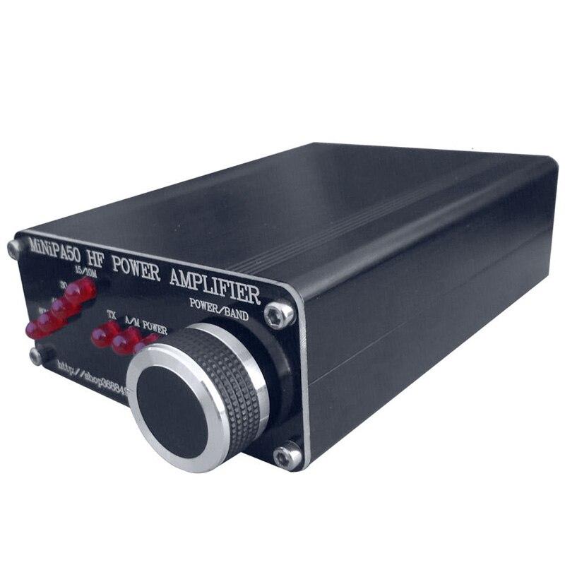 Новый Minipa50 45 Вт ВЧ усилитель мощности для YASEU FT 817 ICOM IC 703 Elecraft KX3 QRP Частотный диапазон 80 м 40 м 30 м 17 м 15 М 10 м