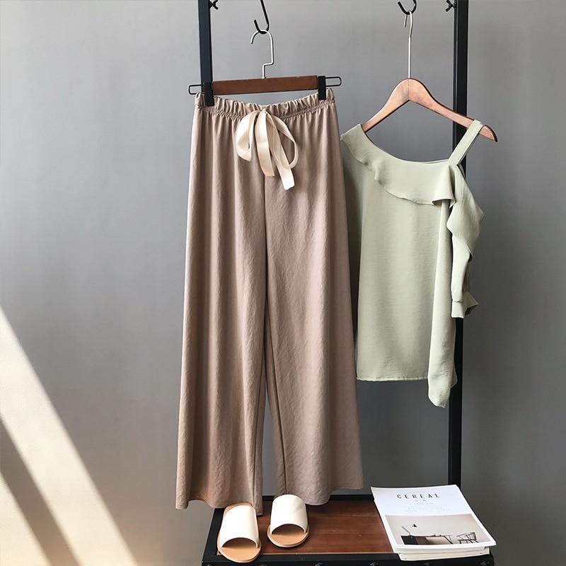 8 Confortáveis Calças Finas de Verão das mulheres, Material de Algodão ming wm65t Makar