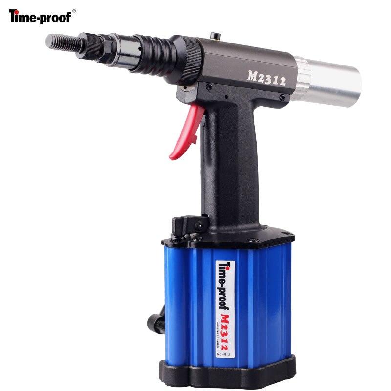 Genuine Time proof M2312 pneumatic hydraulic nut riveter rivet nut gun riveting tool for M3 M12