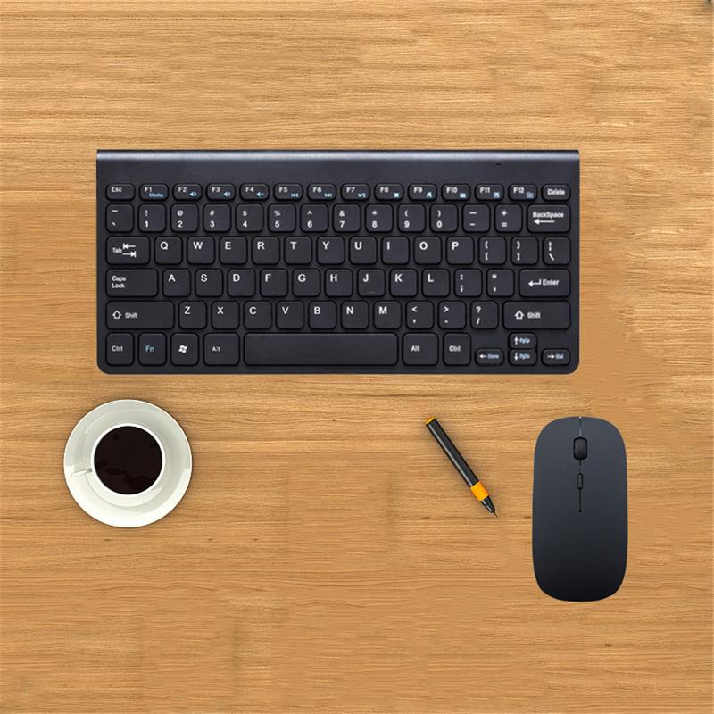 Ergonomic Wireless Keyboard Small Stylish Mouse Set Mini Keyboard For Games Office Entertainment Desktop Laptop Tablet