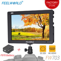Feelworld FW703 7 inch 3G SDI 4K HDMI On Camera DSLR Monitor Field Full HD LCD 1920x1200 IPS Screen with Focus Video Assist