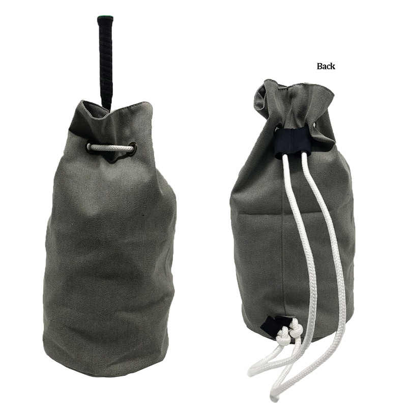 Canvas Racket Backpack Drawstring Portable Casual Outdoor Sports Shoulder Bucket Bags for 1~2 pc Tennis Badminton Racquet Holder