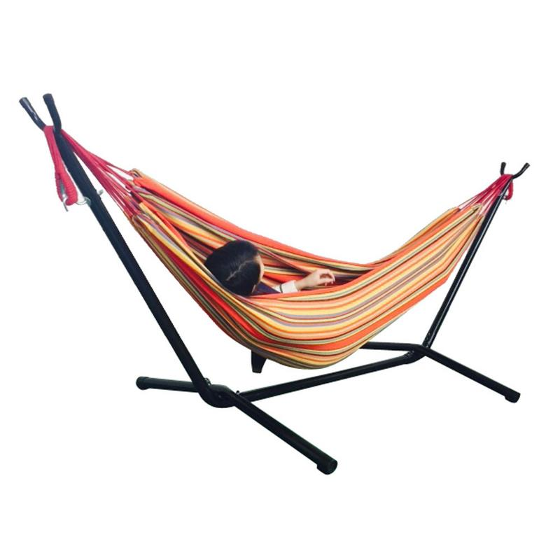 Portable Outdoor Polyester Hammock Set With Hammock Stand Handbag For Outdoor Camping Travel Beach And Indoor UsePortable Outdoor Polyester Hammock Set With Hammock Stand Handbag For Outdoor Camping Travel Beach And Indoor Use