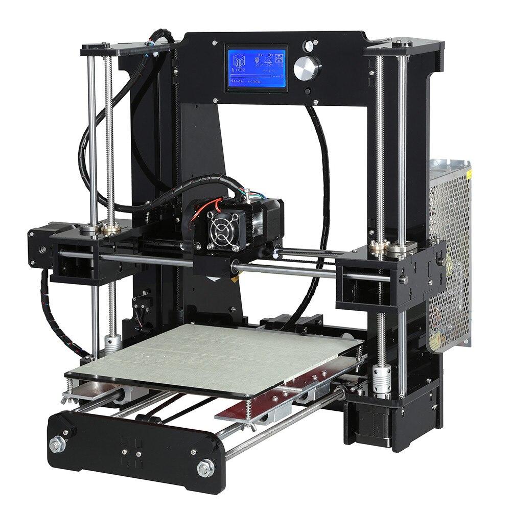 Image 3 - Anet A6 o wysokiej precyzji duży rozmiar pulpitu 3D zestawy do drukarek do samodzielnego montażu ekran LCD z SD o pojemności 16GB drukowanie kart rozmiar 220*220*250mmDrukarki 3D   -