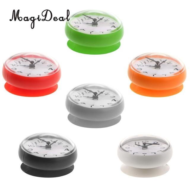 MagiDeal Silicone Waterproof Kitchen Bathroom Bath Shower Suction Cup Clock Colorful for Bathrooms Kitchen