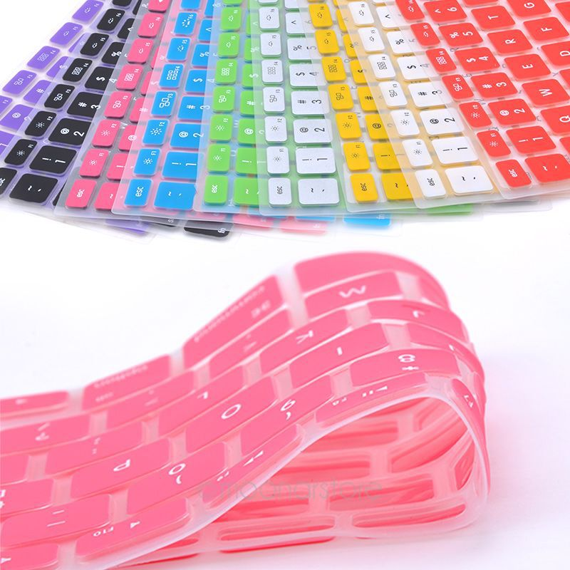 9 Colors Soft <font><b>keyboard</b></font> <font><b>stickers</b></font> Silicone <font><b>Keyboard</b></font> Cover Skin Protector for Apple Pro for <font><b>MAC</b></font> 13 15 Air 13 image