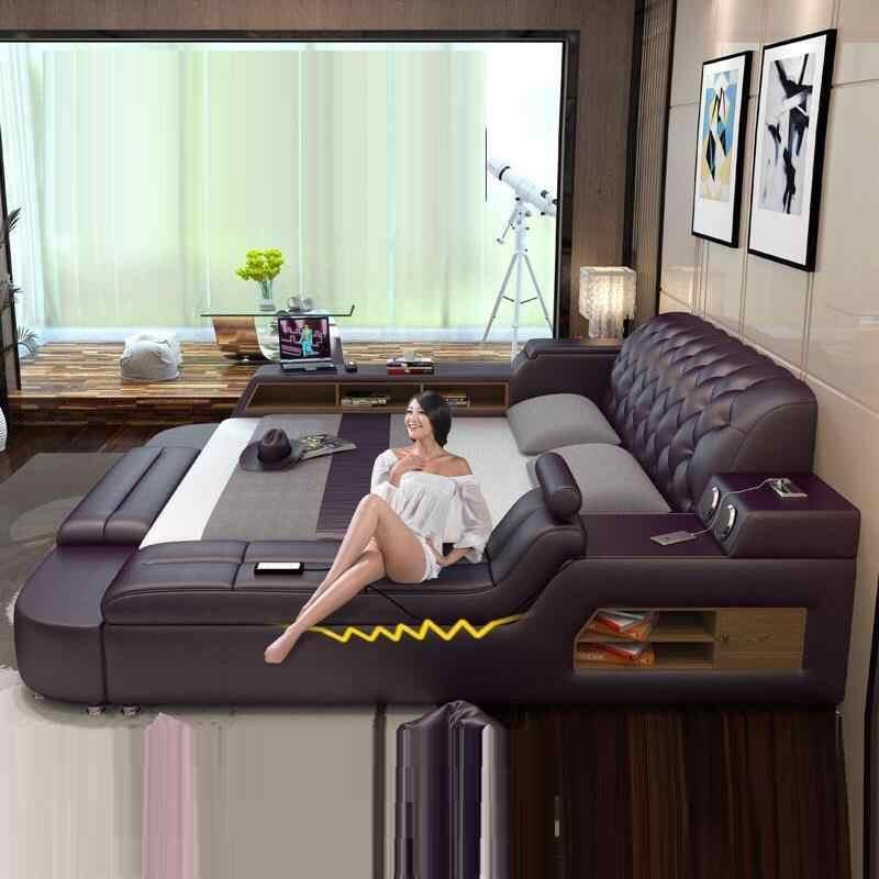 Современный дом, спальня, Literas, дом, комната для детей, мобильная мебель, Recamaras, кожа, Cama, модерана, Mueble De Dormitorio, кровать