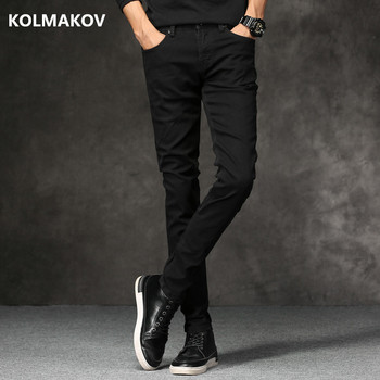 2019 autumn New men Jeans Black Classic Fashion Designer Denim Skinny Jeans men's casual High Quality Slim Fit Trousers 1