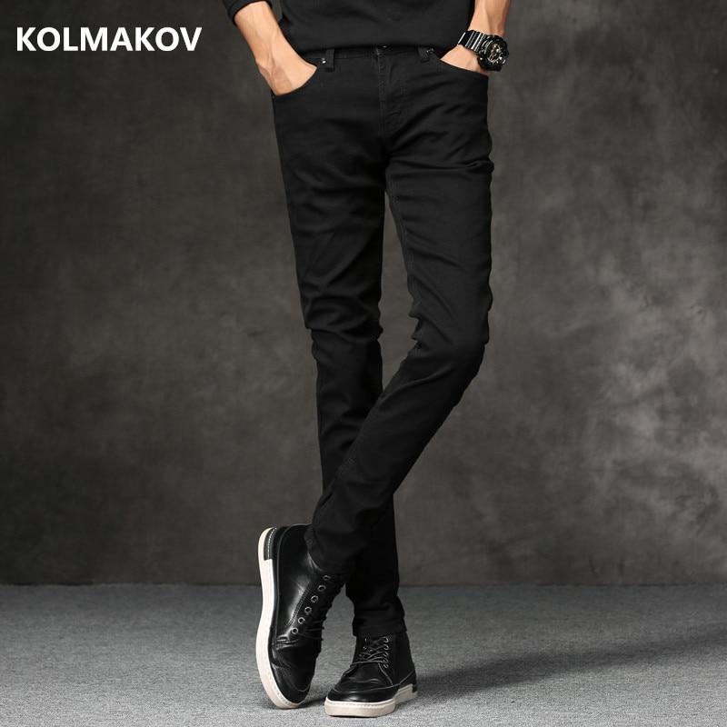 2019 Spring New men Jeans Black Classic Fashion Designer Denim Skinny Jeans men's casual High Quality Slim Fit Trousers