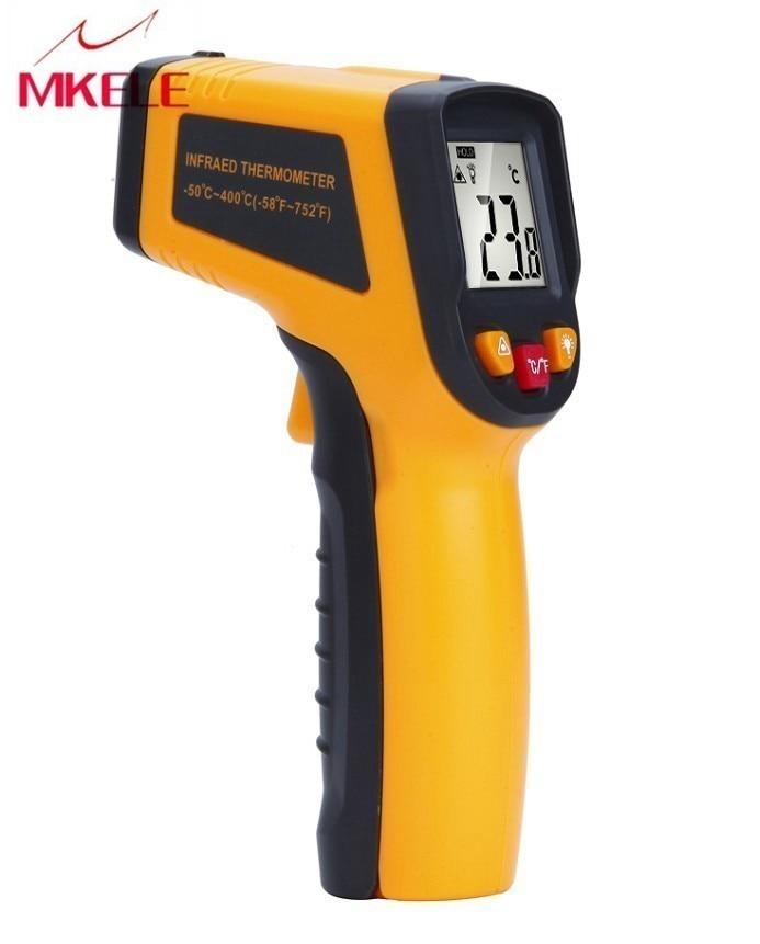 Цифровой термометр бесконтактный инфракрасный температурный  пирометр ИК лазерный точечный пистолет 50 ~ 400 градусов тепловизор  метеостанцияweather stationpoint gunnon contact infrared -