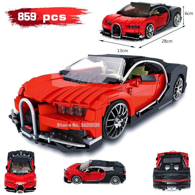859 pcs Gallon Blocs de Construction éclat rouge voiture de Sport série Compatible legoinglys ville modèle Assembler des Jouets pour enfants cadeau