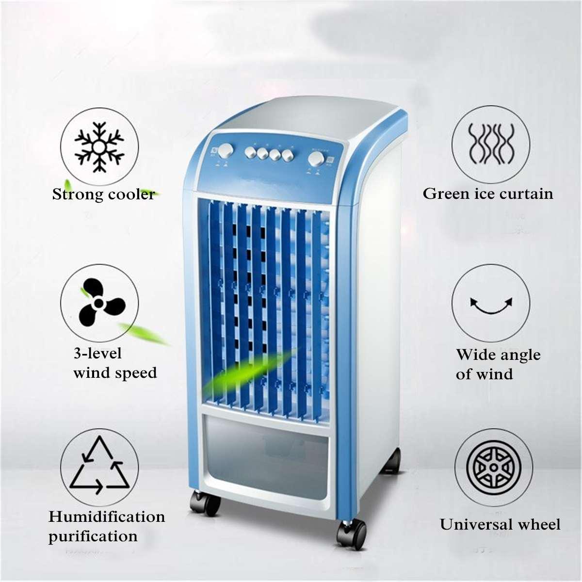 Refrigerador de Ar portátil Unidade 4L 80 W & Swing Condicionado Ventilador De Fluxo De Controle Remoto Casa Refrigerador de Ar Evaporativo Do Ar Condicionado fã