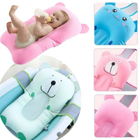 Lovely Newborn Baby Bath Tub Foldable Cartoon Seat Bathtub Pad Shower Bed Support Anti skid Cushion Mat Baby Care Bebe