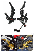 CNC Adjustable Rearsets Footrest Rear Set Foot Pegs For Honda GROM MSX125 MSX125SF