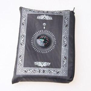 Image 5 - 100x60cm Portable Muslim Prayer Mat Eid Mubarak Decor Waterproof Ramadan Islamic Prayer Rug Carpet with Compass 5 Colors