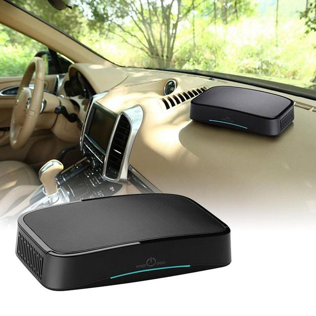 Car USB Powered Air Purifier Intelligent and Efficient Large Area of Inlet High Power with Three Levels Twin Turbo Fan