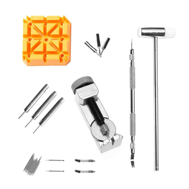 24pcs/set Watch Tools Watch Hammer Watches Strap Pin Link Remover Repair Accessories Watchmaker Tools