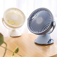 Portable DC 5V Small Desk USB 5 Blades Cooler Cooling Fan USB Mini Fans 360 Degrees Flexible Mini USB Clip Fan Super Mute Silent