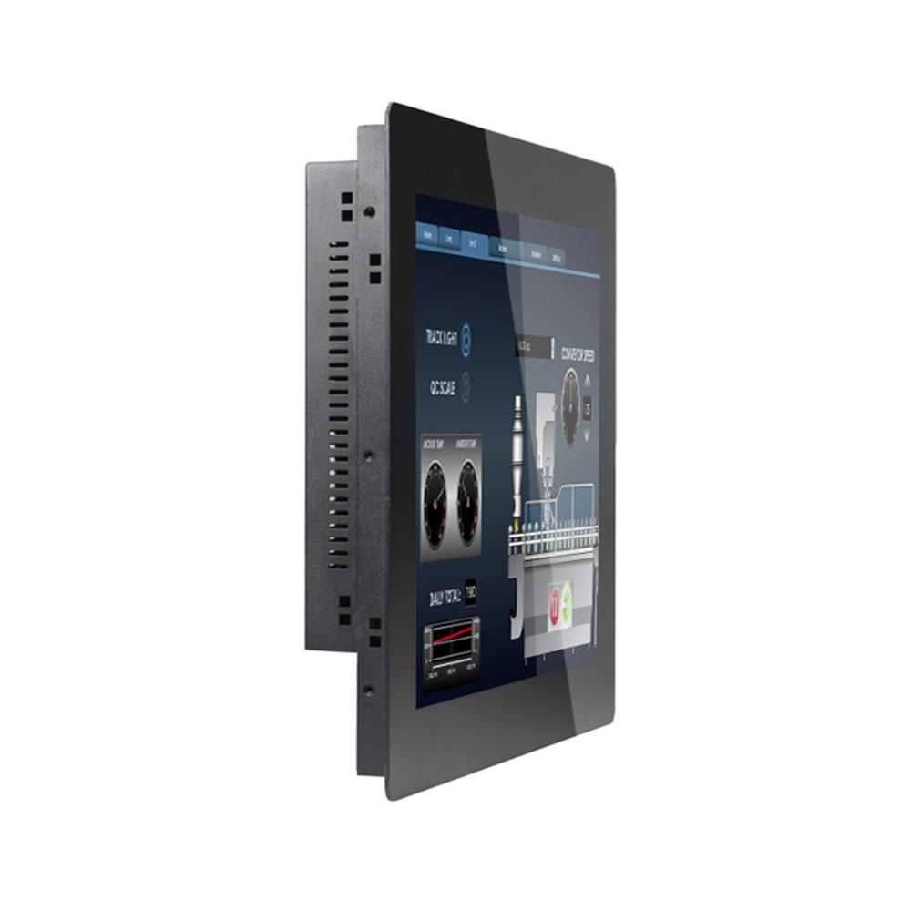 [HUNSN DA03W] Industrial Panel PC,19 Inch LED 5 Wire Resistive Touch Screen,Intel Celeron 3855U,Windows 7/10/Linux Ubuntu,