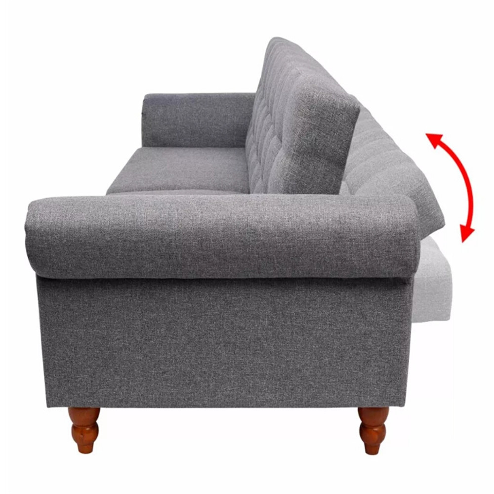 Awesome Us 283 77 Vidaxl Gray Color Sofa Bed Adjustablle Backrest Cozy Seat Elegant And Timeless Living Room Bed Room Sofas Home Decor 243924 In Living Room Ncnpc Chair Design For Home Ncnpcorg